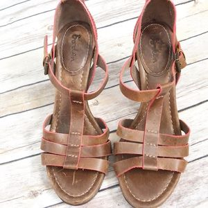 Boden Brown Leather Sandals Size 39